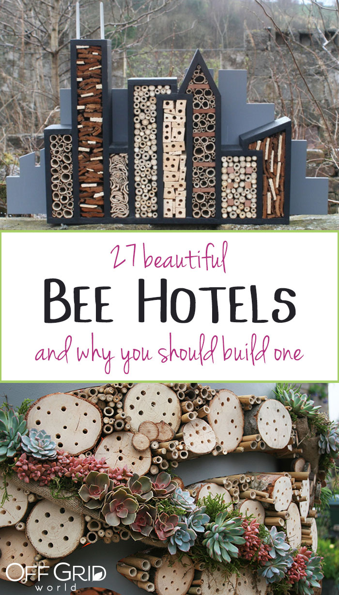 Beautiful bee hotels