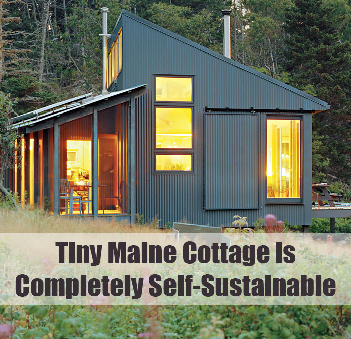 Tiny maine cottage is completely self sustainable off for Maine cottage house plans