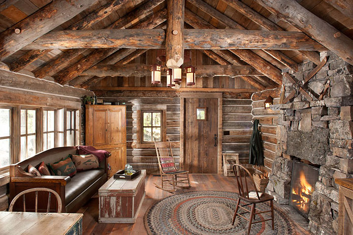 Authentic Log Cabin Exquisitely Restored To 1900s