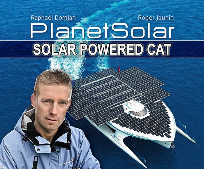 100% Solar Powered Catamaran Sails Around The World!