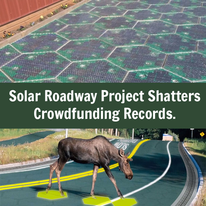 Solar Roadway Project Shatters Crowdfunding Records But