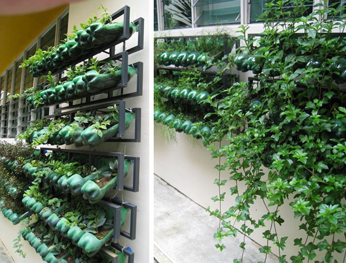 10 easy diy vertical garden ideas for Simple diy garden designs