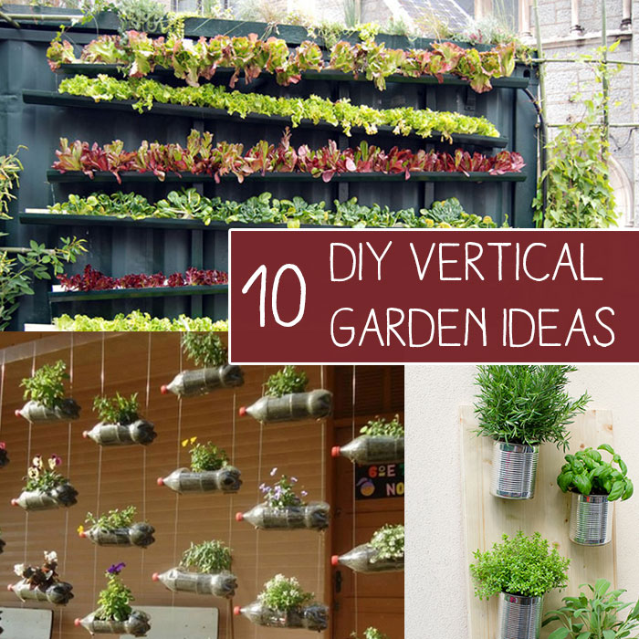 10 easy diy vertical garden ideas - Diy Garden Ideas