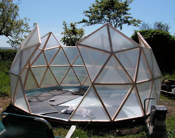 Geodome greenhouse in progress
