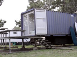 modern shipping container