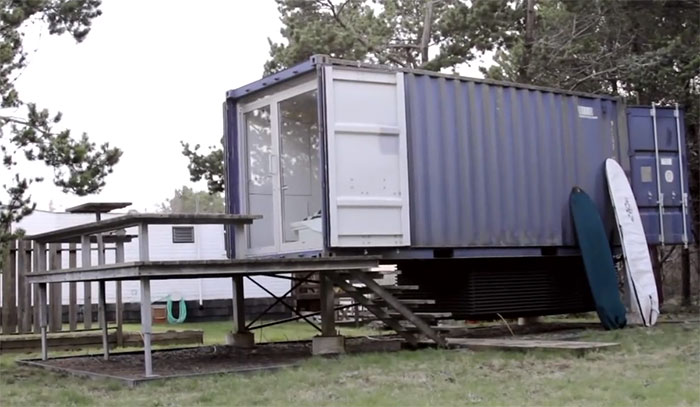 Unique modern 160 square foot shipping container home off grid world - Foot shipping container home ...