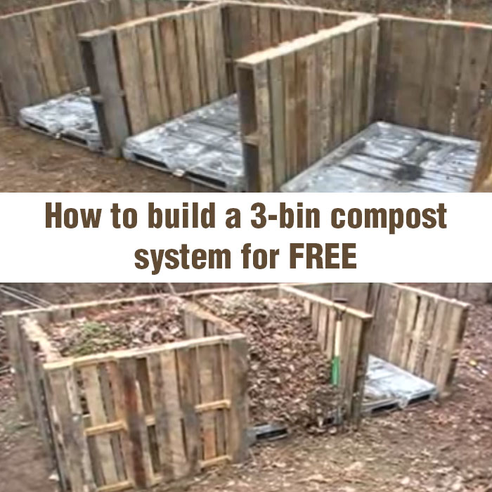 How to Build a 3-bin Compost System for FREE