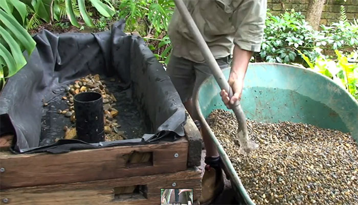 How to make an aquaponic pond system off grid world for Koi aquaponics