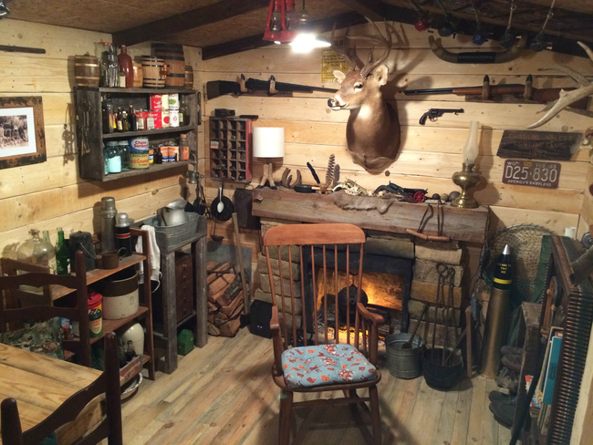 Amazing Rustic Cabin Man Cave Built In Basement For 107