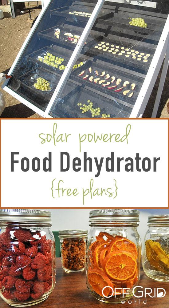 Solar powered food dehydrator