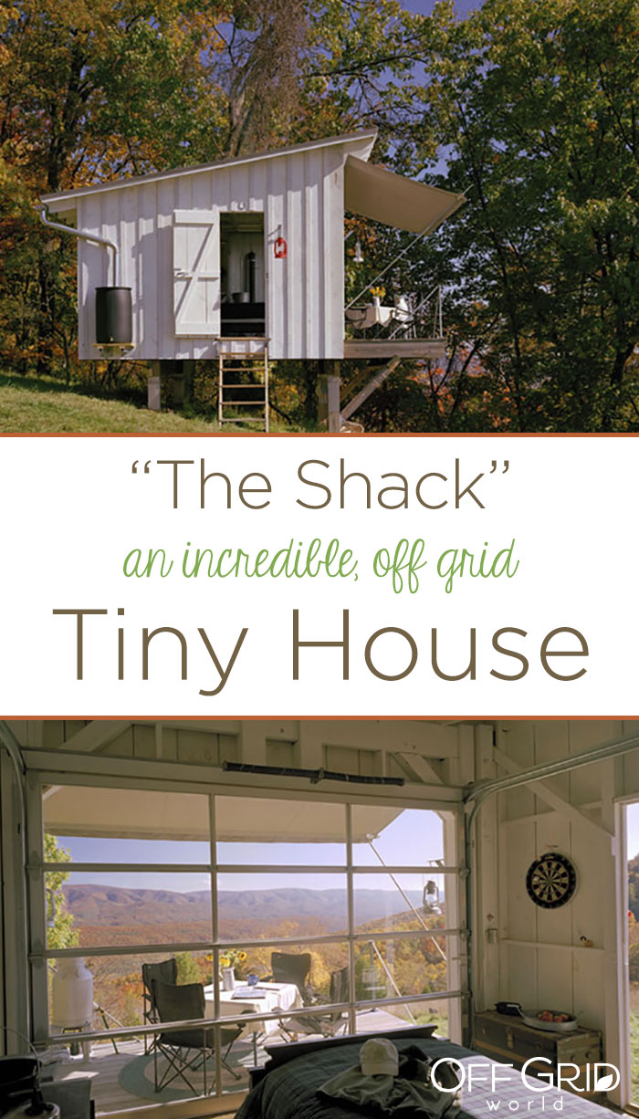 The Shack off grid tiny house