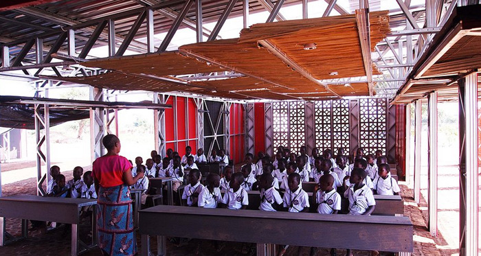 100 Off Grid Solar Powered School Built From Shipping