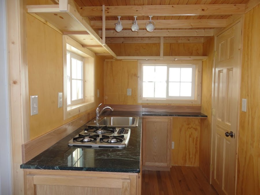 Gorgeous little 200sqft cabin built by father son off 200 sqft office interior