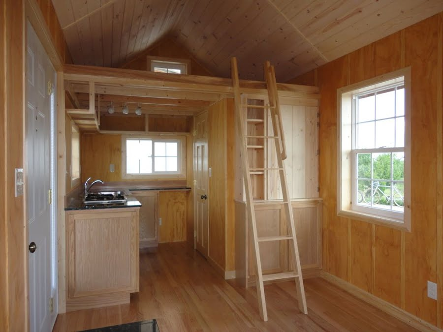 Gorgeous little 200sqft cabin built by father son 200 sqft office interior