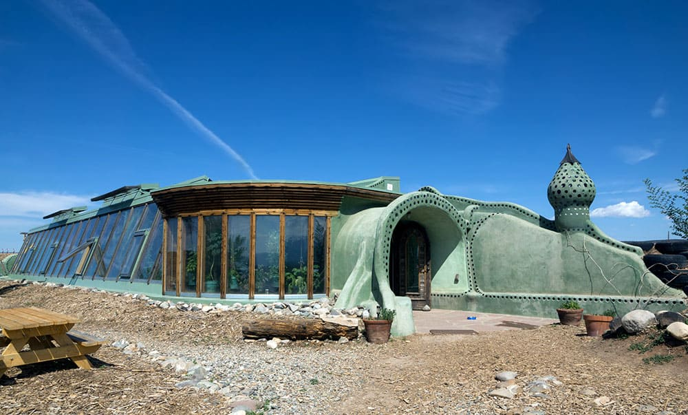 Living off the grid in an Earthship