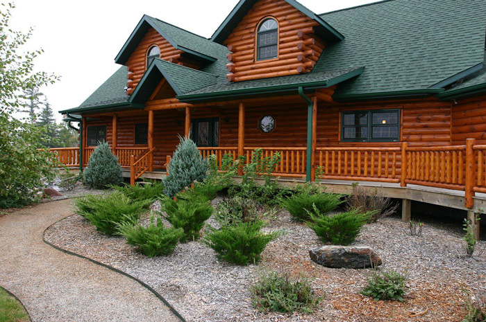 Landscaping Pictures For Log Homes : Living off the grid what does it mean world