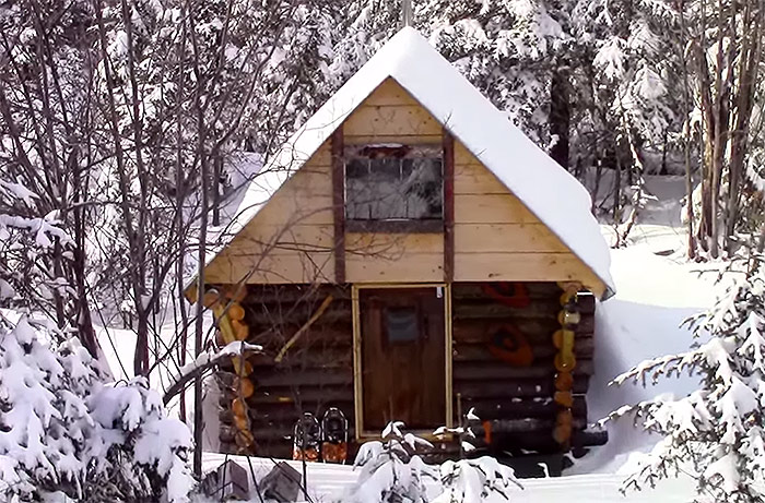 ... Off Grid Cabin In The Woods6