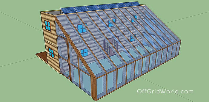 shipping container cabin with greenhouse 16