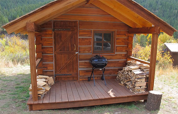 How To Build A Square Log Cabin | Off Grid World