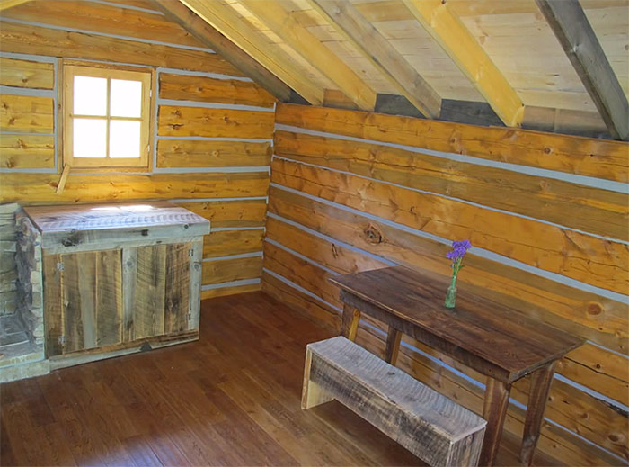 Attractive Square Log Cabins #1: Square-log-cabin-dovetail-notched-corner4