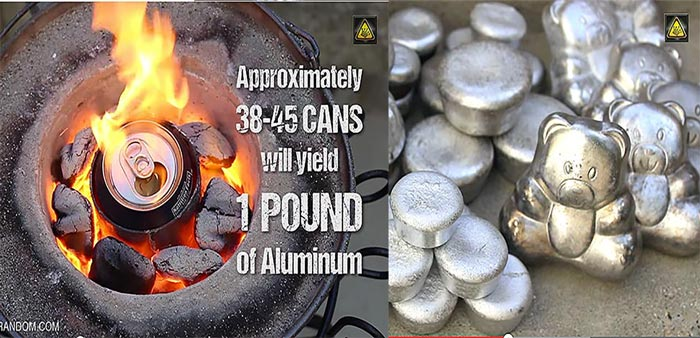 Melting Aluminum Cans Homemade Mini Metal Crucible