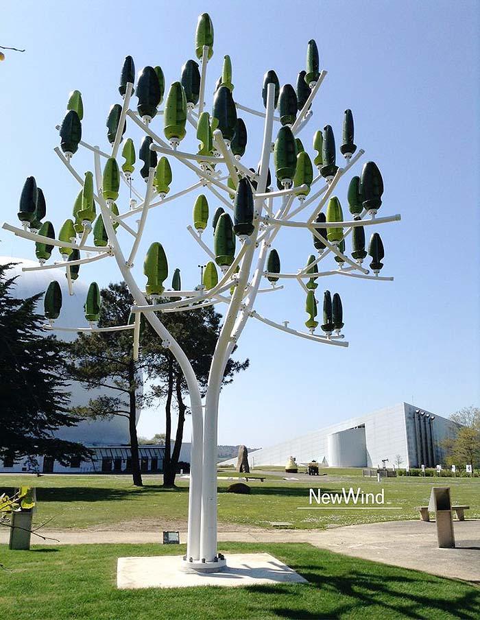 new wind turbine looks like a tree off grid world. Black Bedroom Furniture Sets. Home Design Ideas