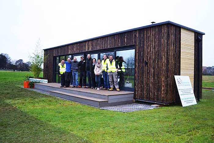 Ireland 39 s first shipping container home built in 3 days for Hive container homes