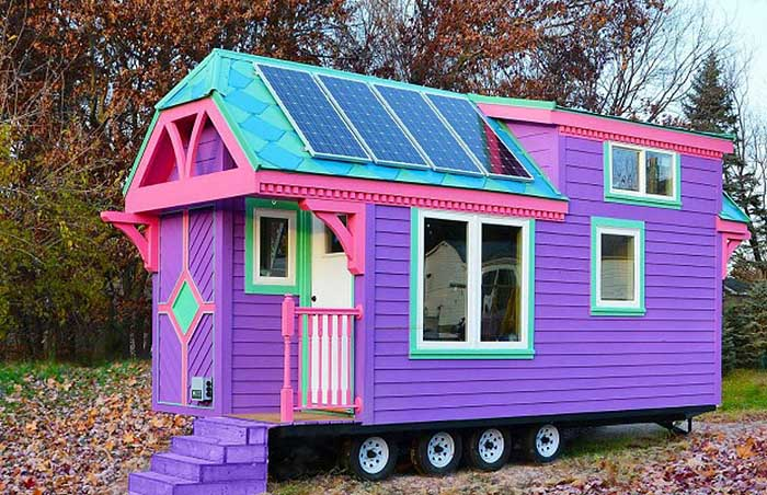 Colorful solar powered ravenlore tiny house is built to be off grid - The off grid tiny house ...
