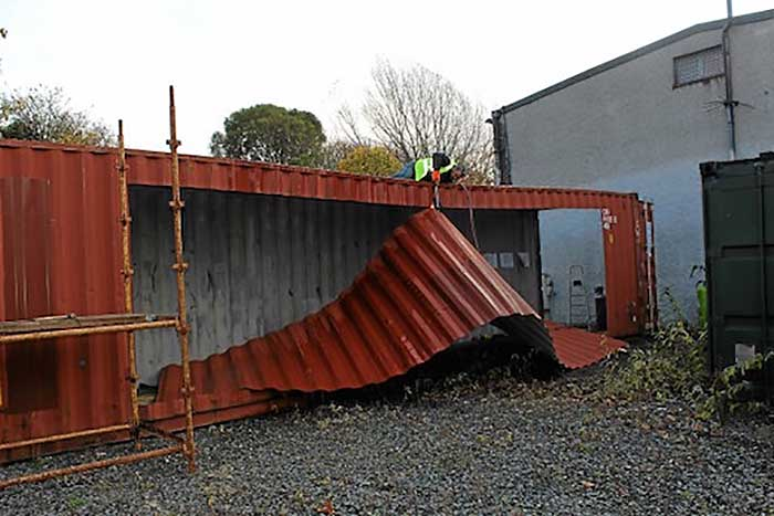 Ireland 39 s first shipping container home built in 3 days for How to make a shipping container home