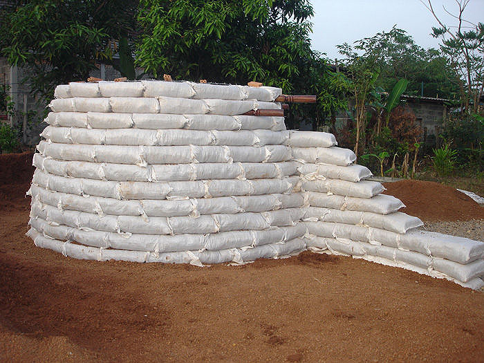 Earthbag home construction