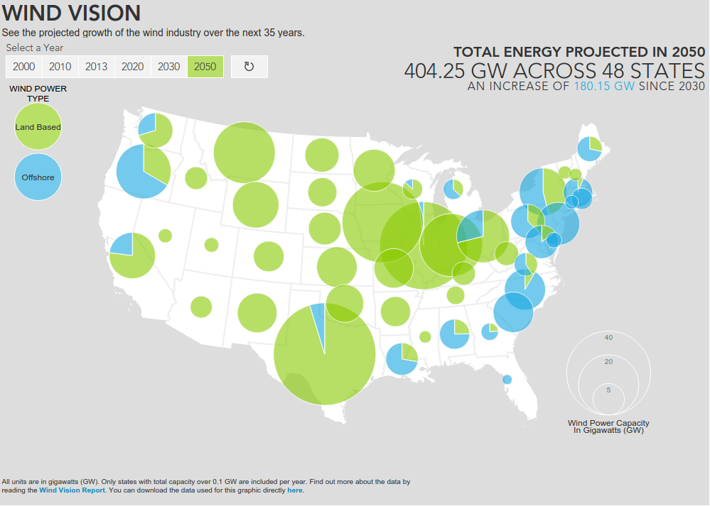 Interactive Map Shows America's Wind Energy Future