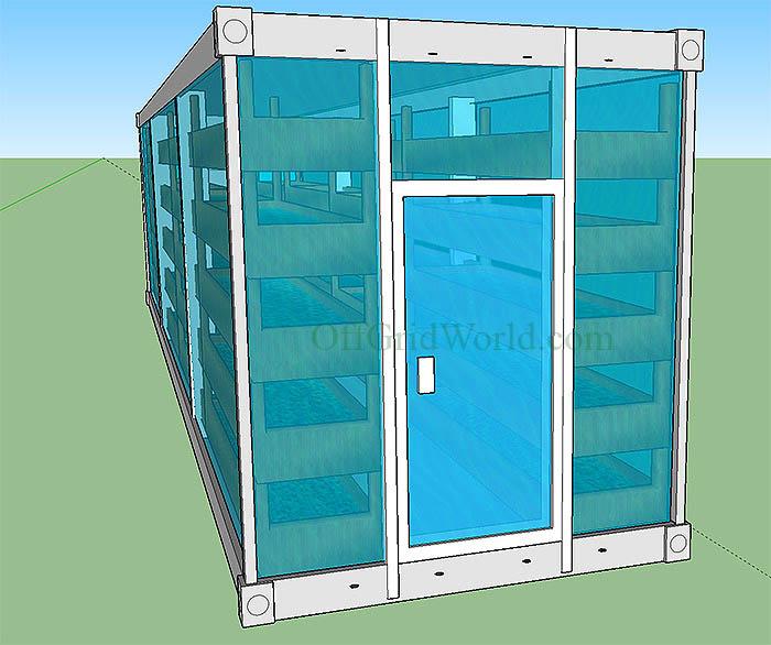 Portable Solar Powered Aquaponics Greenhouse Can Grow Food