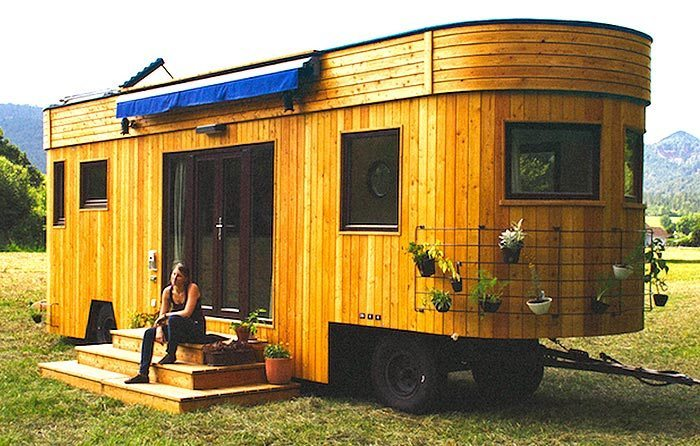 Live Off the Grid Rent-Free in the Charming Wohnwagon Mobile Caravan