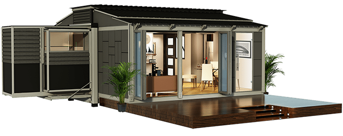 Amazing off grid expandable portable shipping container for Ebs homes