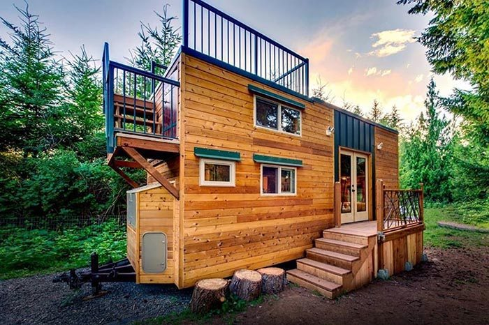 Pair of engineers design pet friendly off grid tiny house for Off the grid home design plans
