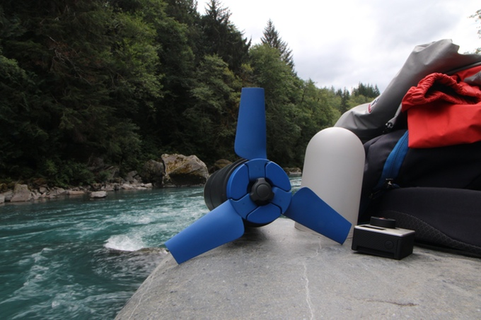 Portable Hydroelectric Power Can Store Energy To Charge Three Smartphones.