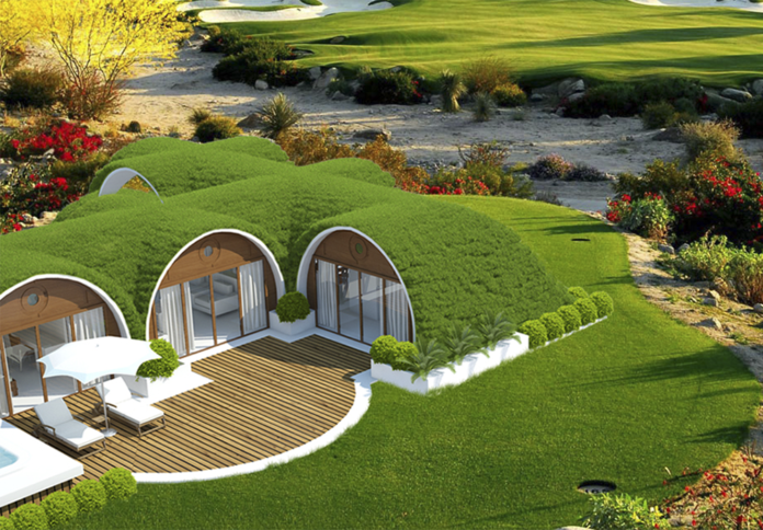off grid hobbit home