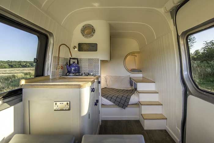 Custom Cargo Van With Nautical Touch Makes A Great Tiny Home On The Go!