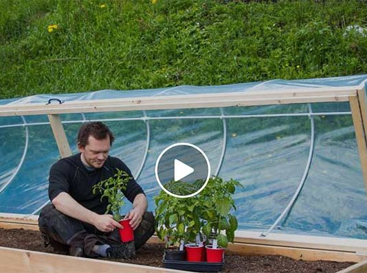 Hinged Hoop House Raised Bed Garden