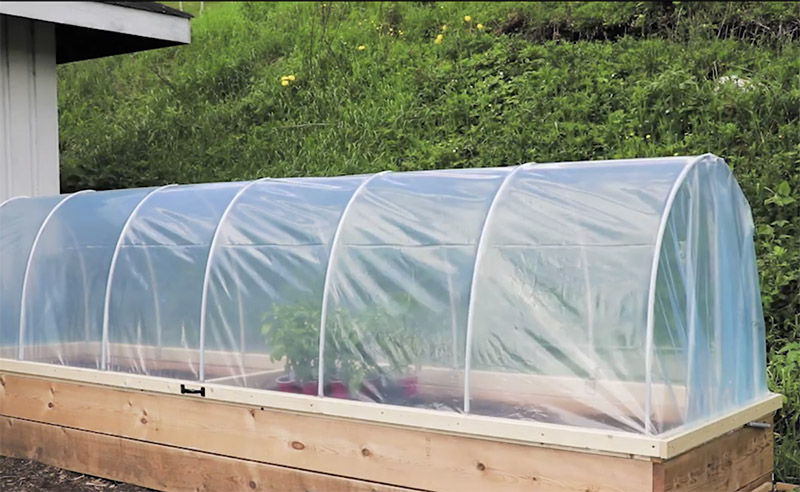Delicieux Hoop House Raised Garden