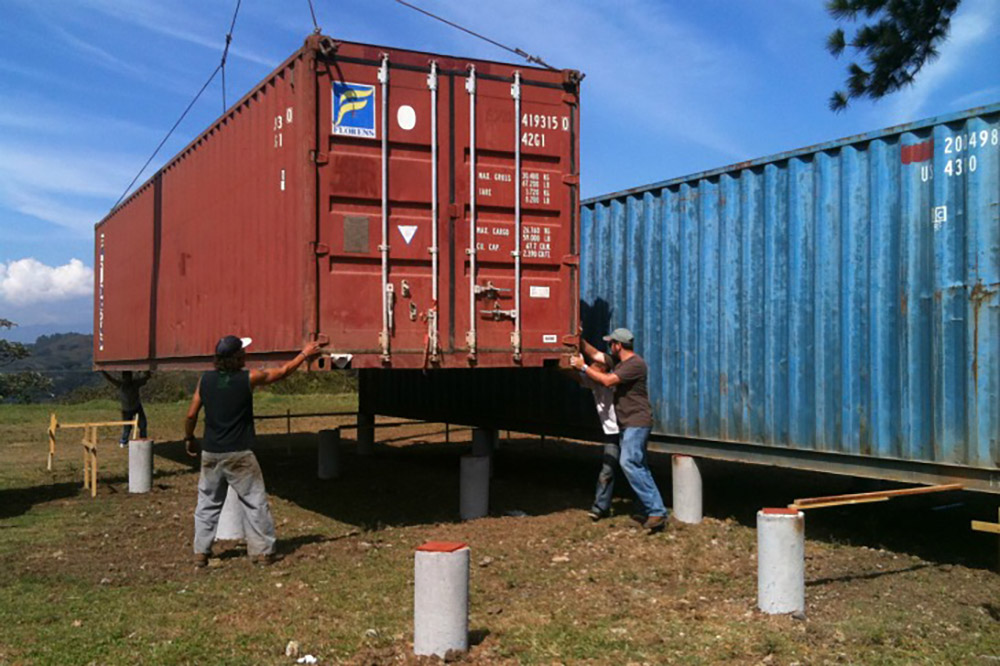 Shipping container home in Costa Rica