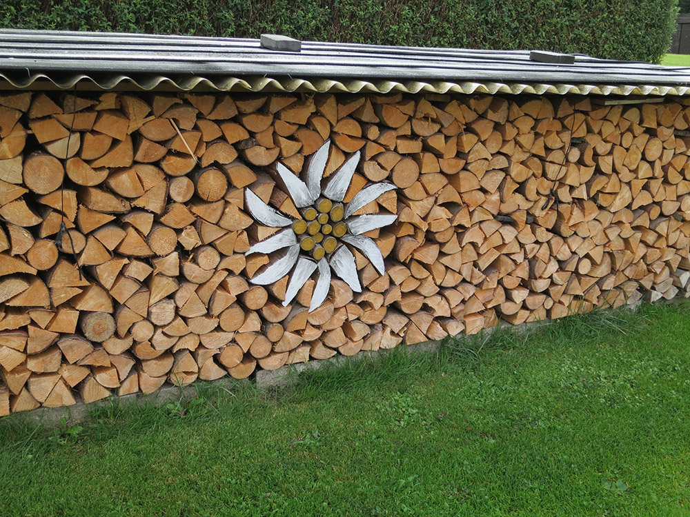 creative wood piles