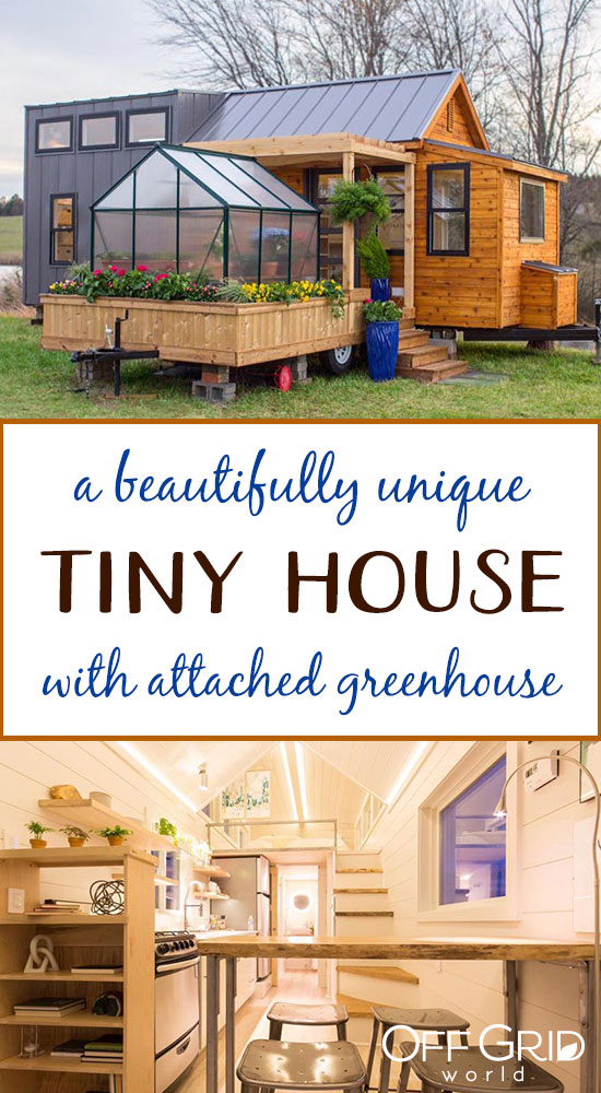 Tiny home with attached greenhouse