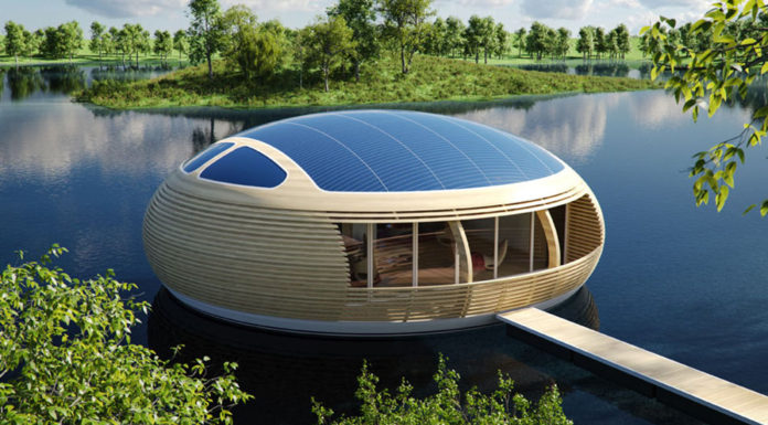 floating off grid home