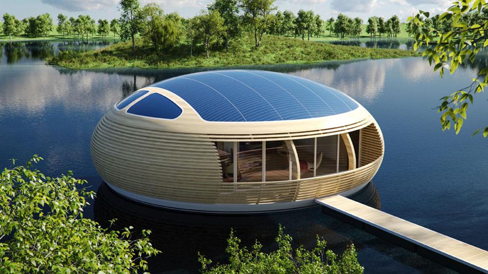 floating off grid home