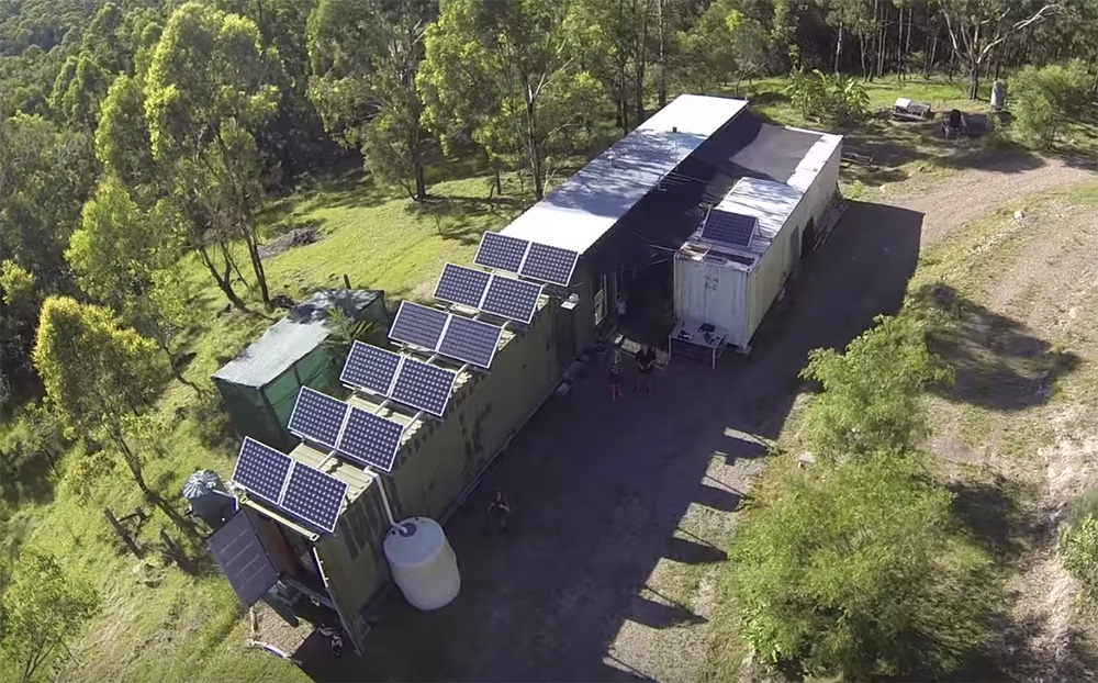 Couple Lives The Off Grid Dream In A Shipping Container