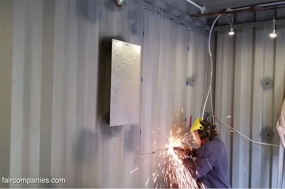 off grid shipping container home