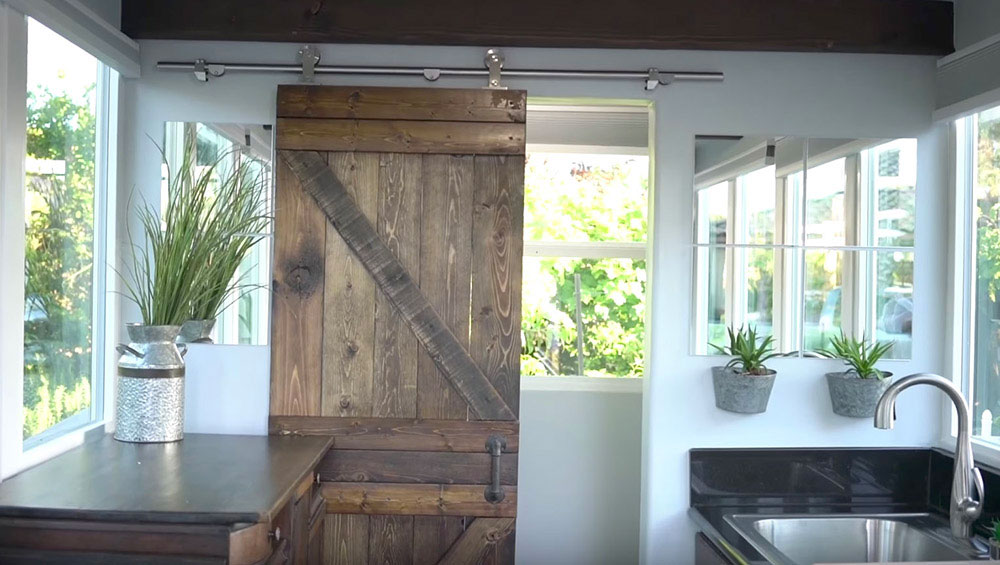 container home sliding doors