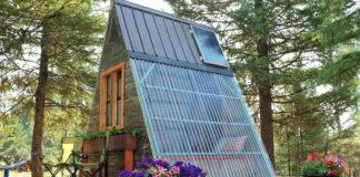a frame tiny cabin