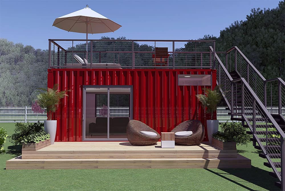 Kubed shipping container home
